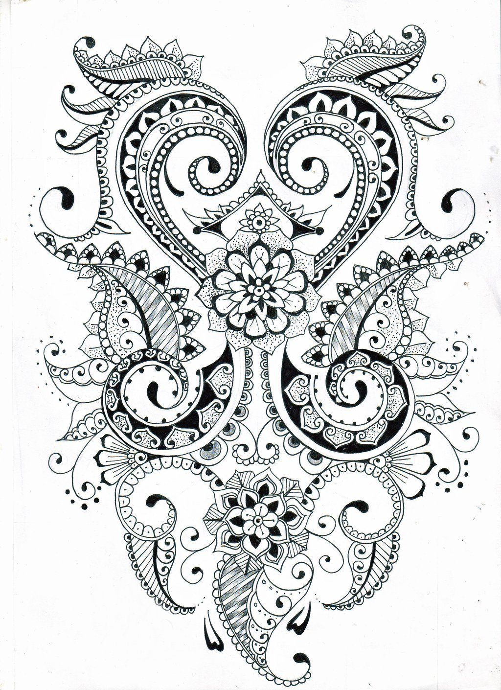 zentangle flower patterns printable - Google Search ...