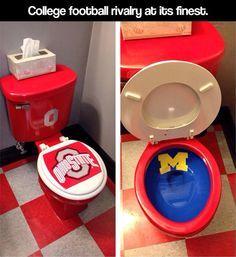 College football rivalry…O-H-I-O!!!!!!