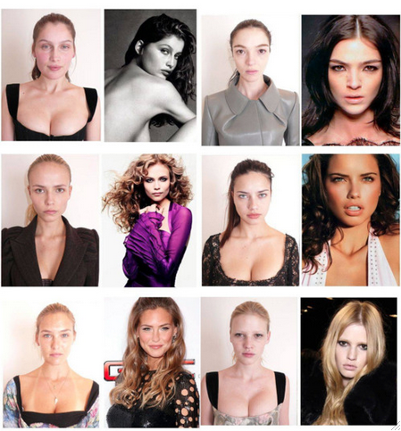 89a945243f4 Never feel ugly when looking at pictures of models, this is what they really  look like, without makeup or photoshop