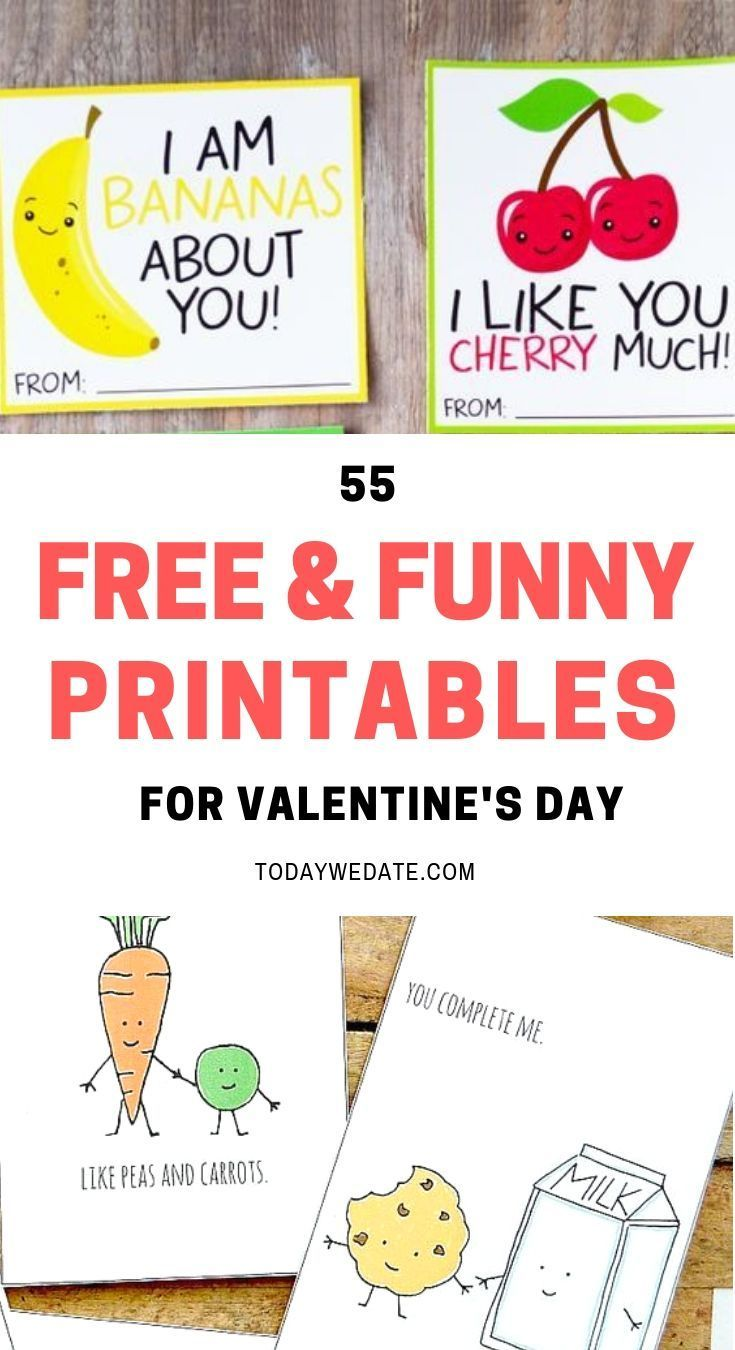 55 Noncorny and funny Valentine's Day Printables to
