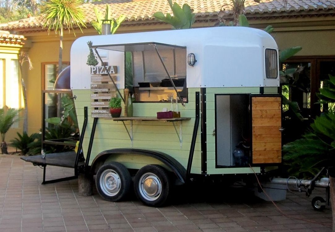 Catering Vans For Sale >> Pizza Trailer made from a converted horse box:) | Trailer - The Little Kitchen Company ...