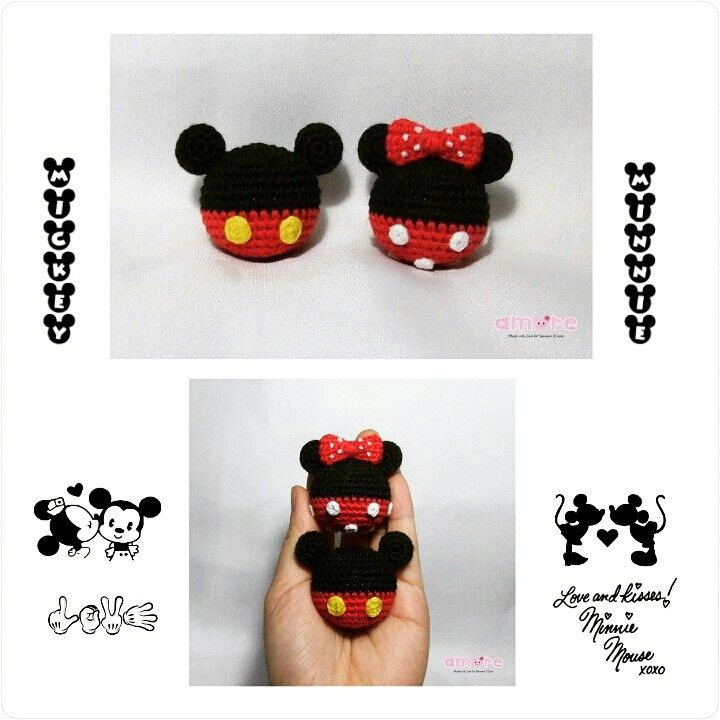 Amigurumi mickey and minnie ball | Amigurumi ^.^ | Pinterest ...