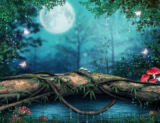 Fairy Tale Fantasy Forest Photo Background Backdrop 3d Nature Wallpaper Landscape Wallpaper Fantasy Forest