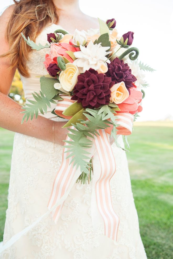 How To Make The Most Gorgeous Felt Wedding Bouquet! | Creative ...