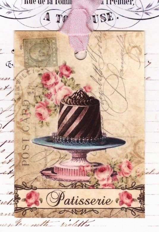 2 single paper napkins for Decoupage or Collection Kitchen Chocolate Cook Retro