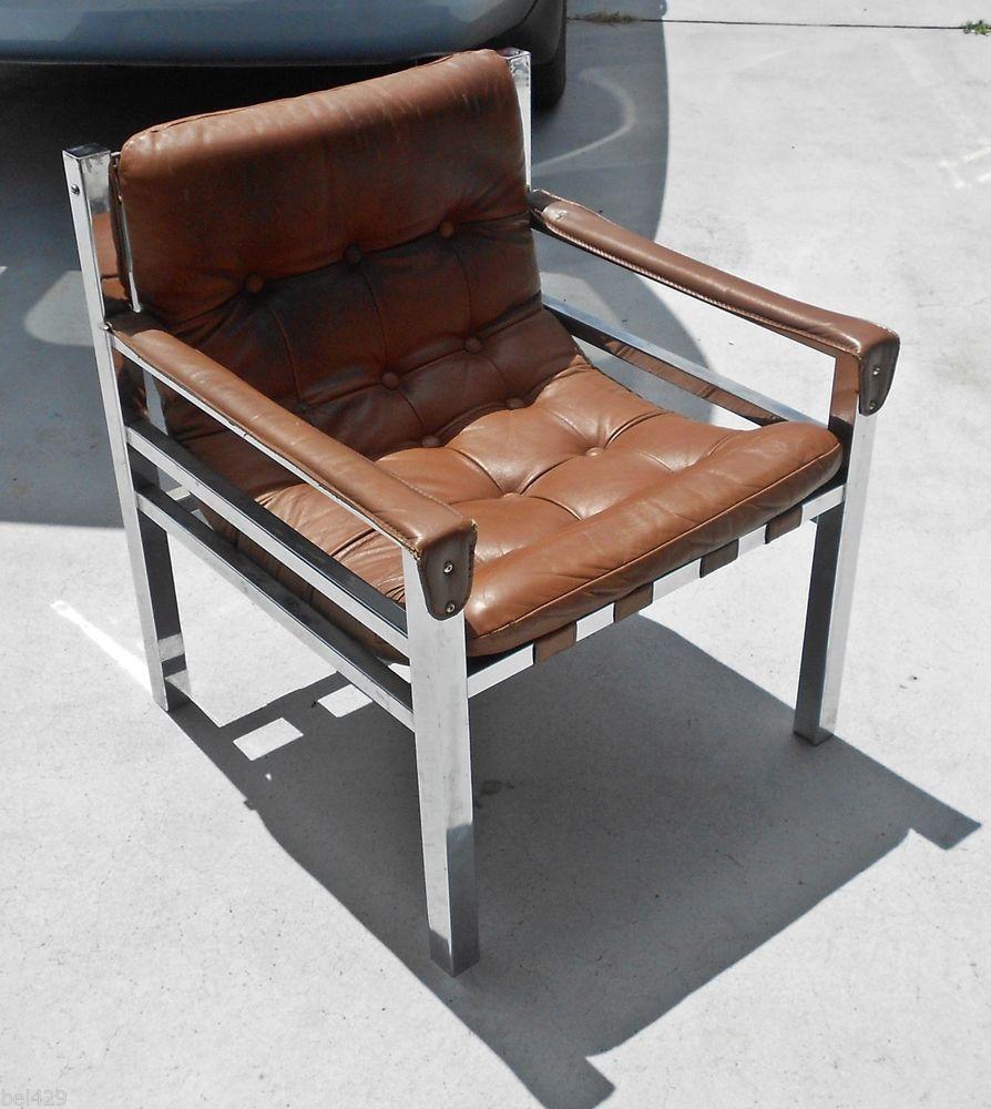 Charmant Mid Century Modern Chrome Leather Strap Chair Baughman? Antique Shops,  Stylish Couple, Townhouse