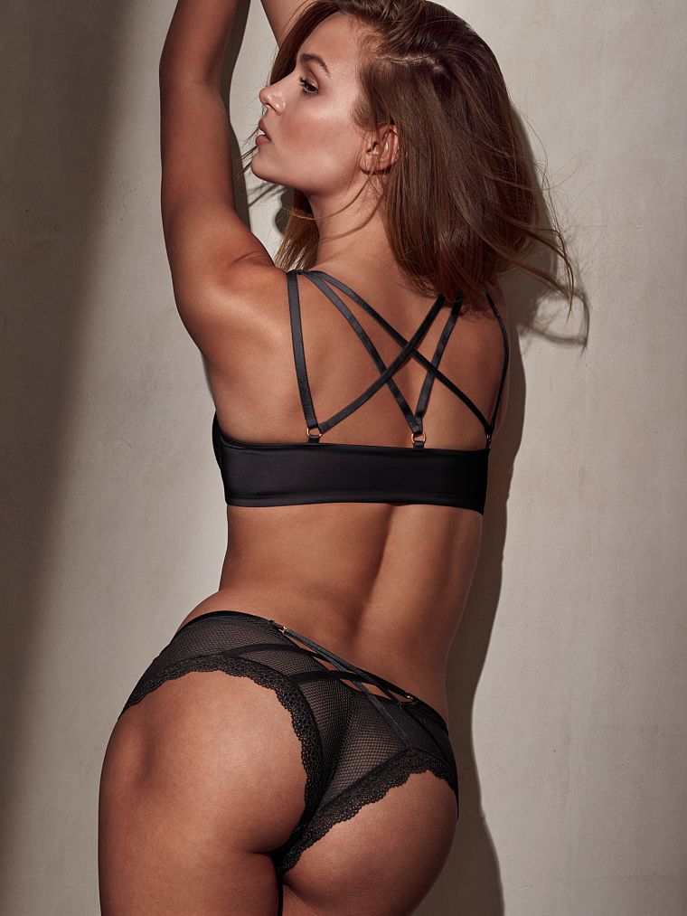 68399201461b4 When a push-up bra is just as bold from the back. All those straps are too  hot to hide.