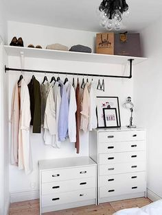 Fashion Racks 10 Pateres Et Garde Robes Mobiles A Faire Soi Meme Closet SpaceNo