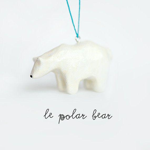 Christmas Ornament Le Tenacious Polar Bear Totem One Of A Kind