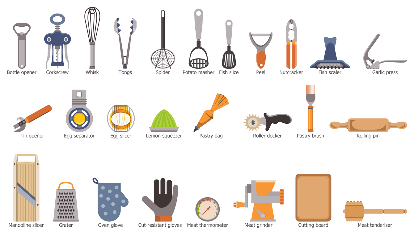 Design Elements — Kitchen Utensils   Food and Beverage - Cooking ...