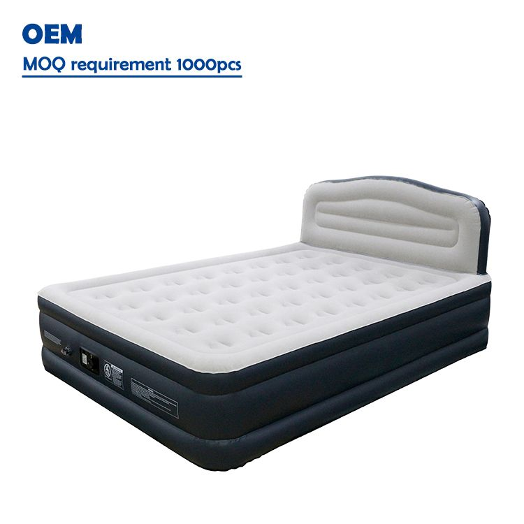 Premium Air Bed With Backrest Blow Up Beds Giant Pool Floats Inflatable Bed