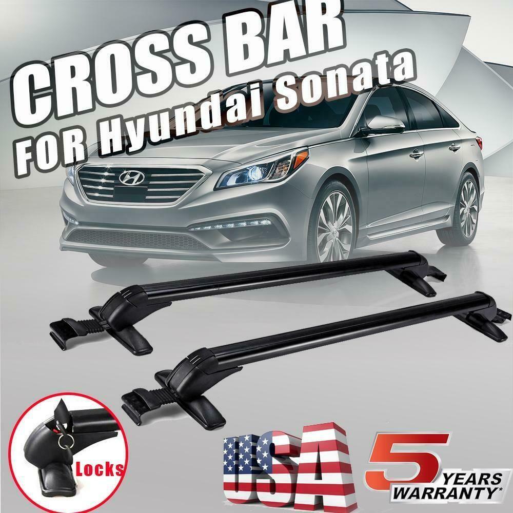 Fits For 2013-2016 Toyota RAV4 Black Roof Rack Cross Bar Car Aluminum Pair