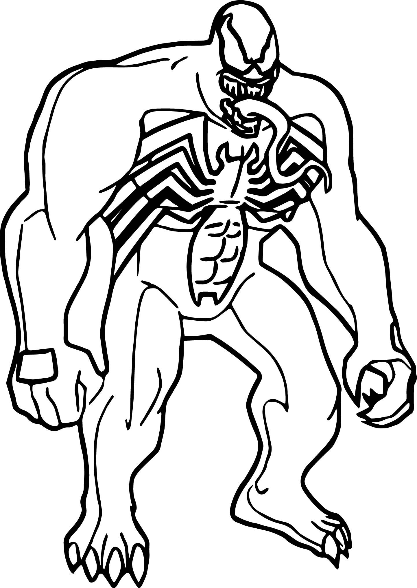 Cool Marvel Venom Coloring Page Avengers Coloring Pages