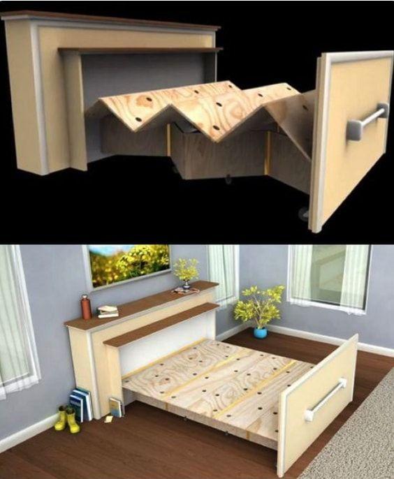 20+ am meisten inspirierende Smart Bed Ideen für eine kleine Schlafzimmerlösung - Wohn Design #smallbedroominspirations