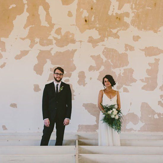 A wedding at an abandoned church + cotton mill reception room. So amazing!