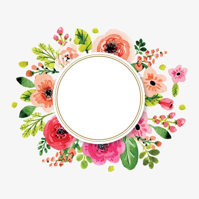 Flowers And Decorative Elements Watercolor Flowers Wedding Invitations Png Transparent Clipart Image And Psd File For Free Download Flower Frame Watercolor Flowers Framed Wallpaper