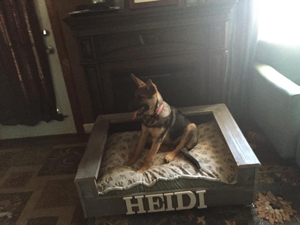 Heidi's pallet dog bed.
