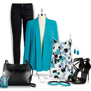 ~Turquoise Blazer & Jeans~