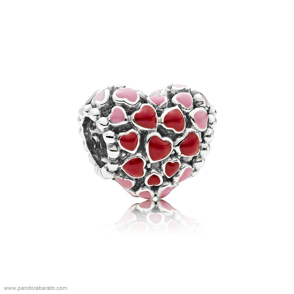 Sweet 925 Sterling Argent Amour Coeur Ours Rose Cristal Charms Beads Fit Bracelet