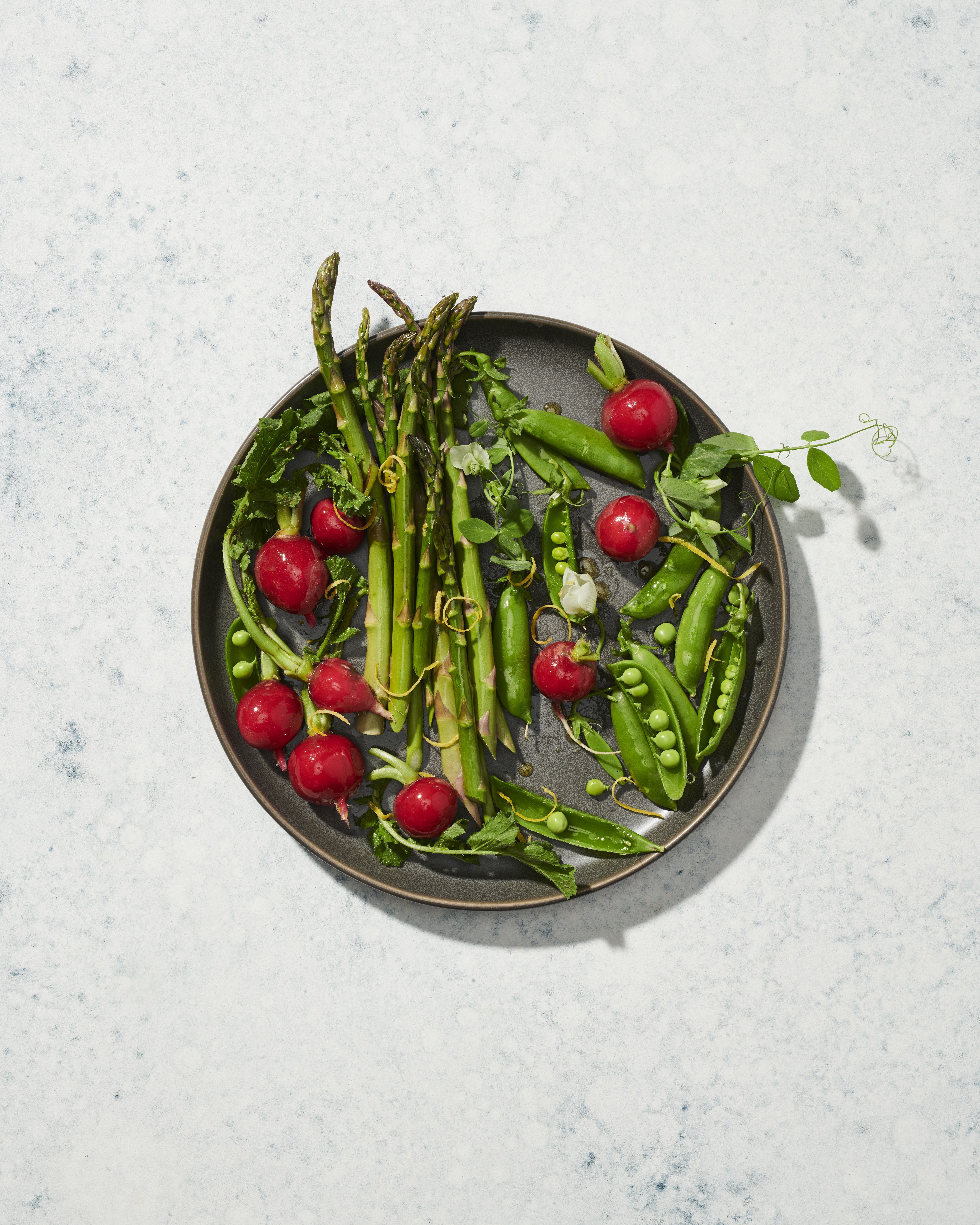 Snap Peas Radishes And Asparagus Sweetgreen Snap Peas Radishes Asparagus [ 6880 x 5504 Pixel ]
