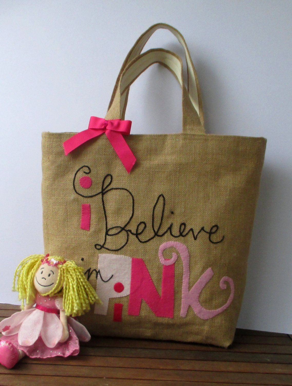 Download Jute Shoppers Tote Bag Romantic Bag Believe In Pink Etsy Boho Chic Bags Jute Tote Bags Tote Bag