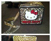 Hello Kitty leopard skin purse!
