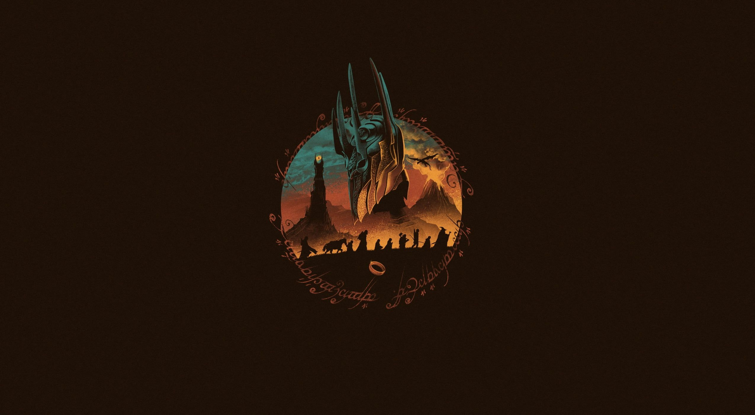 Minimalism Figure The Lord Of The Rings Art The Lord Of The Rings Sauron By Vincenttrinidad Vincenttrinidad Mid Lord Of The Rings Imac Wallpaper Wallpaper