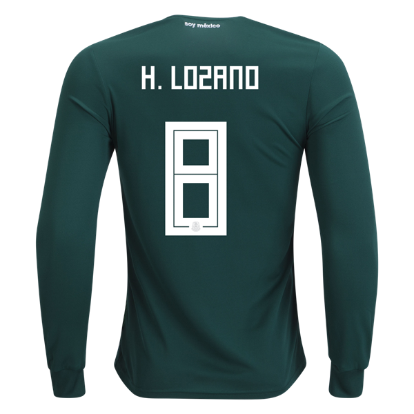 f060fae09 adidas Hirving Lozano Mexico Long Sleeve Home Jersey 2018 | Products ...