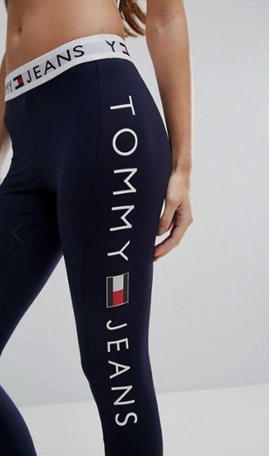 Image Result For Tommy Hilfiger Leggings Yoga Pants Yogapants Tommy Hilfiger Leggings Tommy Hilfiger Outfit Tommy Hilfiger