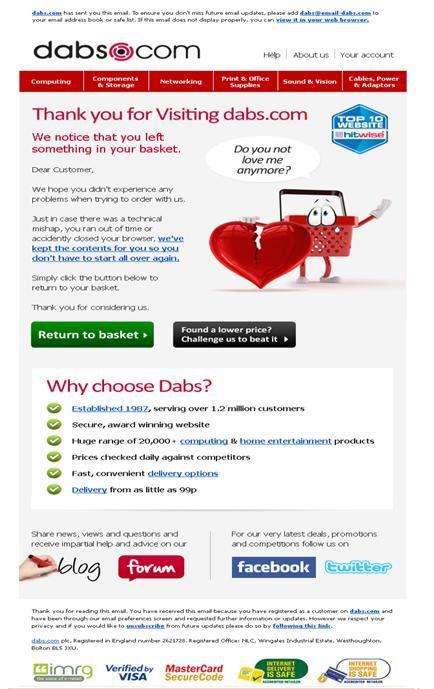 Pin De Emailcenter Uk Limited En Great Cart Abandonment Emails