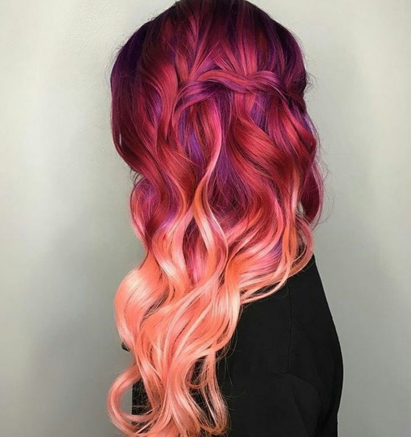 raspberry ombre get your hair did pinterest couleur. Black Bedroom Furniture Sets. Home Design Ideas