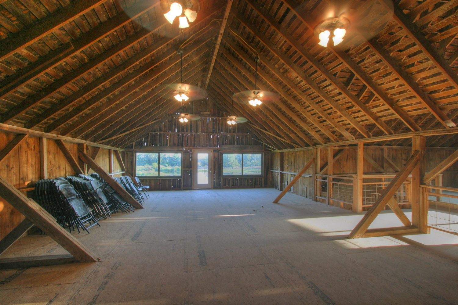 The second floor banquet hall in the Wedding Barn Events ...