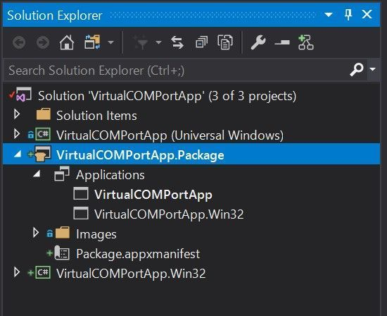 Get a list of virtual serial COM ports from UWP app