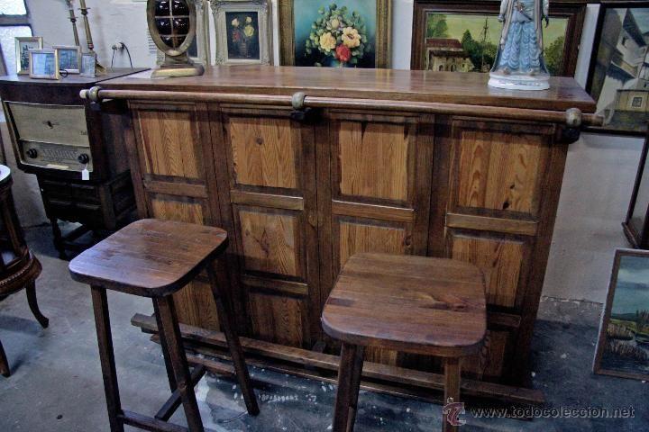 Resultado de imagen para barras de bar de madera chasis volvo pinterest barra de bar bar - Barra de madera para bar ...