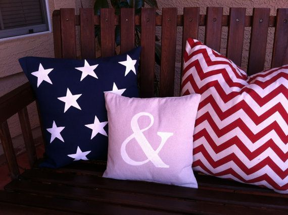 Indoor Outdoor Pillow Set 4th Of July Valentine By Carymehome