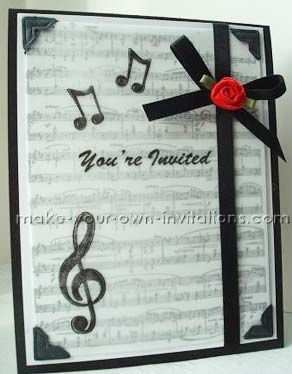 Web site that has several templates for creating your own senior hand made music recital invitations with rubber stamps cardstock and a photo of the graduate thecheapjerseys Image collections