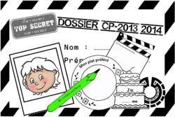 """Je me présente, Cp, Ce1, rentrée, scolaire- enveloppe de presentation style """"dossier agent secret""""."""
