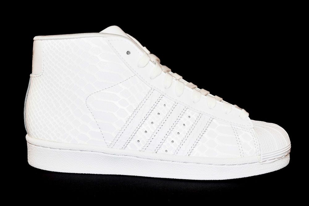 cheap for discount 6118e f144f ... uk adidas d69287 pro model originals superstar sneakers alta tutta  bianca unisex 7f1ef edb8c
