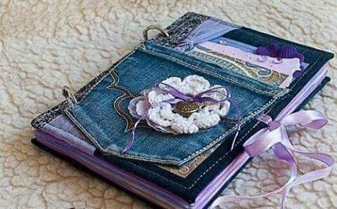 Cuaderno decorado con tela