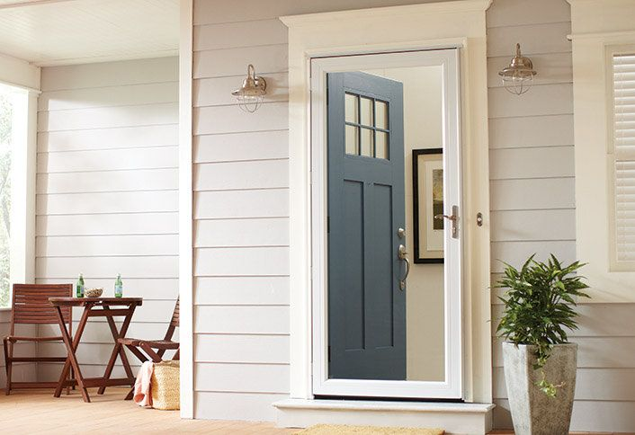 Unified S Storm Doors Are Custom Built That Are As Tough As They Are Beautiful Our Storm Doors Come In Var Wood Storm Doors Storm Door Makeover Exterior Doors
