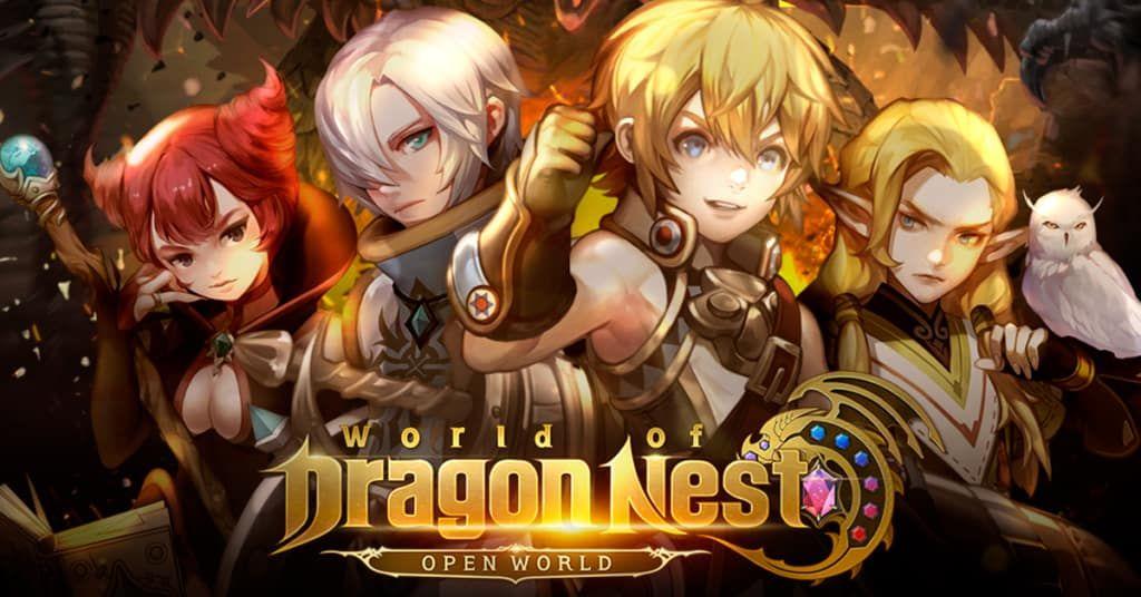 World Of Dragon Nest يبدأ التسجيل المسبق في جنوب شرق آسيا Dragon App Mmorpg Game Logo Design