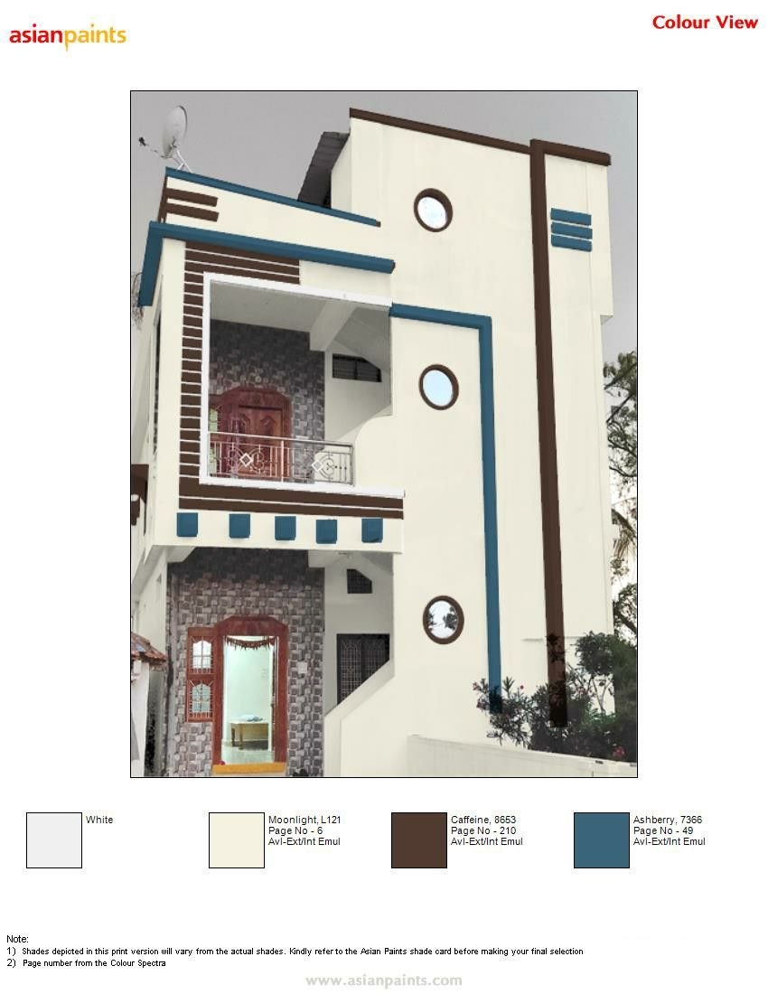 Pin By Lalit Jain On Top 200 Asian Paints Color Views House Balcony Design House Paint Exterior House Paint Color Combination