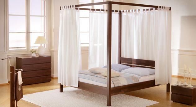 Himmelbett  - schlafzimmer holz massiv