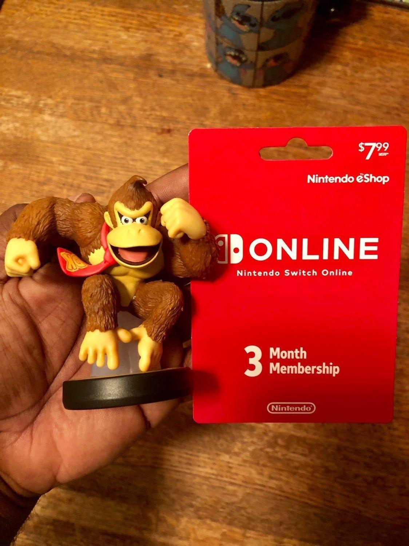 Donkey Kong Amiibo Bonus with a 3 month Nintendo online