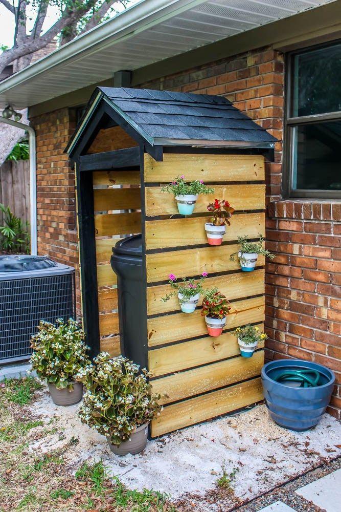 Home Projekt // DIYMülleimerSchuppen für die Einkerbung