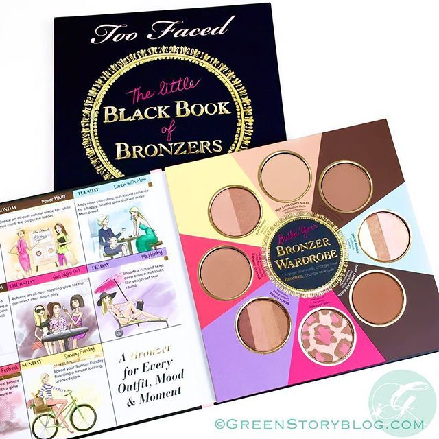 """""""A collectible that no #makeupjunkie can deny! @toofaced #TheLittleBlackBookOfBronzers ...read more on greenstoryblog.com  ______________________ #bronzerwardrobe #bbloggers #TooFaced #beautyblogger #bdblogger #bloggermy #makeup #makeupaddict #newin #bloggerbabes #ifabbo #ricedolls #instadaily #instablogger #clozette #greenstoryblog"""" Photo taken by @greenstoryblog on Instagram, pinned via the InstaPin iOS App! http://www.instapinapp.com (08/12/2015)"""