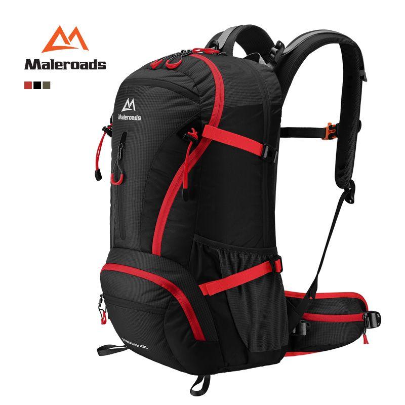 180ffd135c Maleroads Top Quality 40L Trekking Rucksack Camp Hike Travel  Double-shoulder Backpack Black Climb Bag