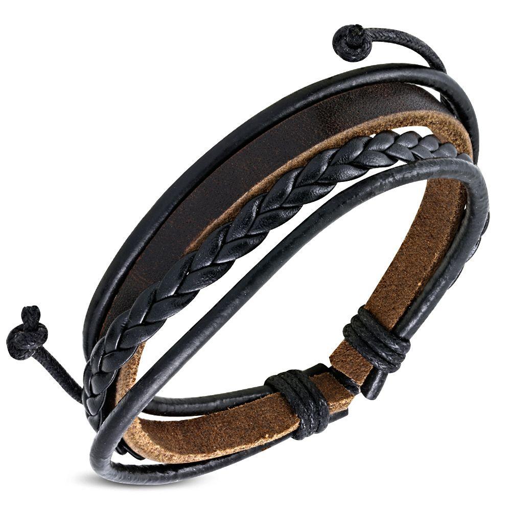 Cross Homme Tressé Cuir Réglable Bracelet Bracelet Manchette Hommes Garçons Cadeau