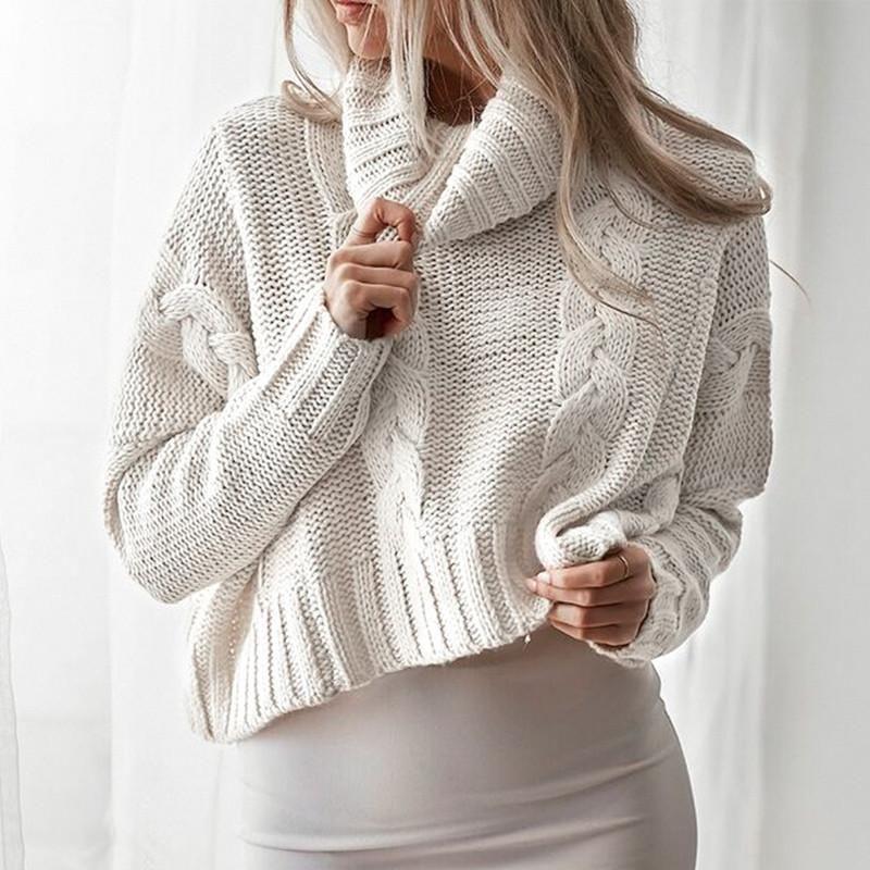 Turtleneck Crop Sweater crop sweater in 2019