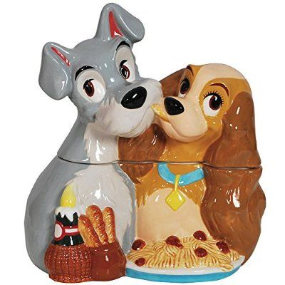 Disney Cookie Jars Amazon Com >> Disney Lady And The Tramp Spaghetti Cookie Jar Collectible Kitchen